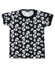 Six Bunnies Polka Skulls Kids Tee Shirt