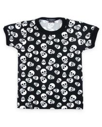 Six Bunnies Polka Skulls Kids Tee Shirt
