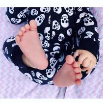 Six Bunnies Polka Skulls Baby Hooded Romper - baby
