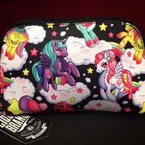 Liquorbrand Pegasus Unicorn Cosmetic Wallet Bag - flatlay