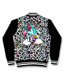 Six Bunnies Unicorn Candy Girls Tattoo Rockabilly Jacket - back