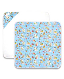 Six Bunnies Aloha Sailor Tattoo Baby Wrap Blanket - Open
