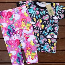 Six Bunnies Unicorns Girls Tee Shirt - flatlay