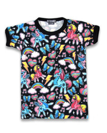 Six Bunnies Unicorns Girls Tee Shirt