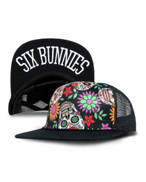 Six Bunnies Sugar Skulls Kids Trucker Cap