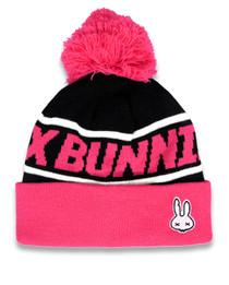 Six Bunnies Pink Skull Kids Beanie