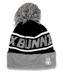 Six Bunnies Grey Skull Kids Beanie