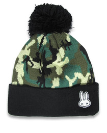 Six Bunnies Camouflage Skull Kids Beanie  -right