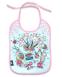 Six Bunnies True Love Baby Bib