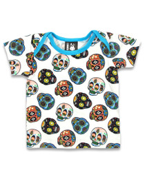 Six Bunnies Sugar Skull Baby Pyjamas - top