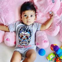 Six Bunnies Little Rocker Baby Onesie - Striped