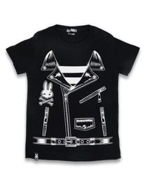 Six Bunnies Rocker Jacket Kids Tee Shirt