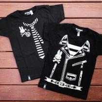 Six Bunnies Rocker Jacket Kids Tee Shirt - flatlay