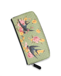 Liquorbrand Green Sparrow Wallet Purse