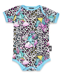 Six Bunnies Unicorns Party Baby Romper Onesie