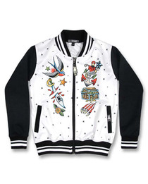 Six Bunnies Homeward Bound Tattoo Rockabilly Jacket - front