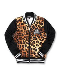 Six Bunnies Leopard Bomber Varsity Jacket