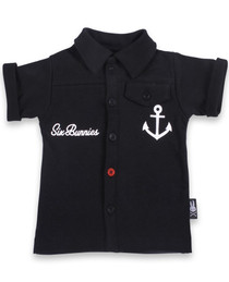 Little Sailor Baby Rockabilly Button Up Shirt - front