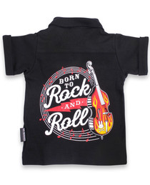 Born to Rock and Roll Baby Button Up Rockabilly Shirt