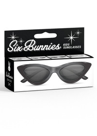 Six Bunnies Girls Black Cat Eye Sunglasses