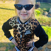 Six Bunnies Girls Cat Eye Black Sunglasses