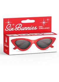 Six Bunnies Girls Red Cat Eye Sunglasses