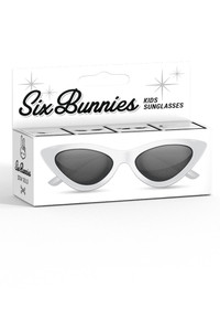 Six Bunnies Girls White Cat Eye Sunglasses