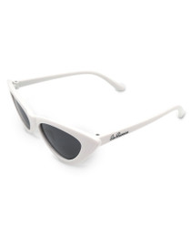 Six Bunnies Girls White Cat Eye Sunglasses- side