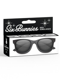 Six Bunnies Unisex Kids Wayfarer Black Sunglasses