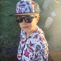 Six Bunnies Kids Wayfarer Black Sunglasses - Unisex