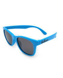 Six Bunnies Unisex Kids Wayfarer Blue Sunglasses - side