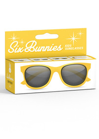 Six Bunnies Unisex Kids Wayfarer Yellow Sunglasses