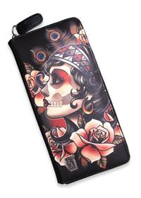 Liquorbrand Gypsy Rose Womens Zip Wallet