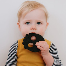Helles Teeth Sugar Skull Baby Teether - Black