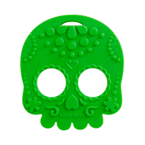 Green Sugar Skull Teether Toy by Helles Teeth