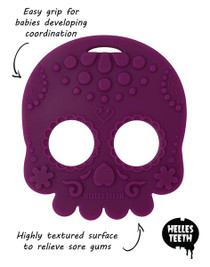 Helles Teeth Sugar Skull Baby Teether - Red
