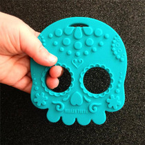 Helles Teeth Sugar Skull Baby Teether - Teal