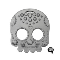 Silver Sugar Skull Teether Toy by Helles Teeth