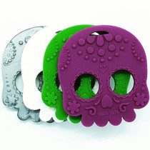 Helles Teeth Sugar Skull Baby Teether - Silver