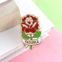 Heres Trouble Lapel Enamel Pin - Jubly Umph
