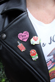 Jubly Umph Stay Weird Lapel Pin