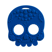 Blue Sugar Skull Teether Toy by Helles Teeth