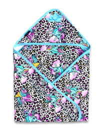 Six Bunnies Unicorn Party Leopard Baby Wrap Blanket