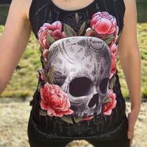 Liquorbrand Sak Yant Skull Singlet Top