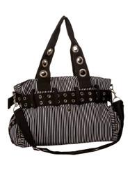 Banned Apparel Handcuff Bag - Black / White