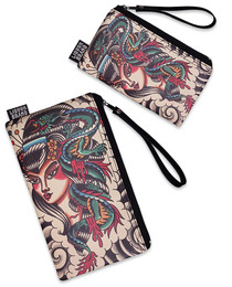 Liquorbrand Dragon Lady Japanese 2 Piece Wallet and Coin Pouches