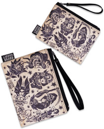 Liquorbrand Traditional Flash Tattoo 2 Piece Wallet and Coin Pouches