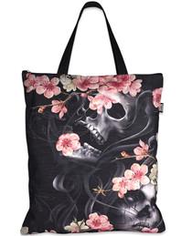 Liquorbrand  Sakura Skull Tote Bag