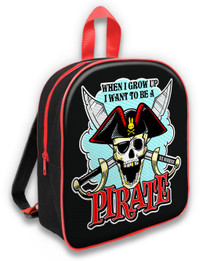 Six Bunnies Jolly Roger Pirate Kids Backpack