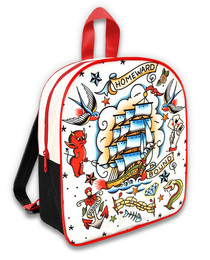 Six Bunnies Old School Tattoo Kids Backpack